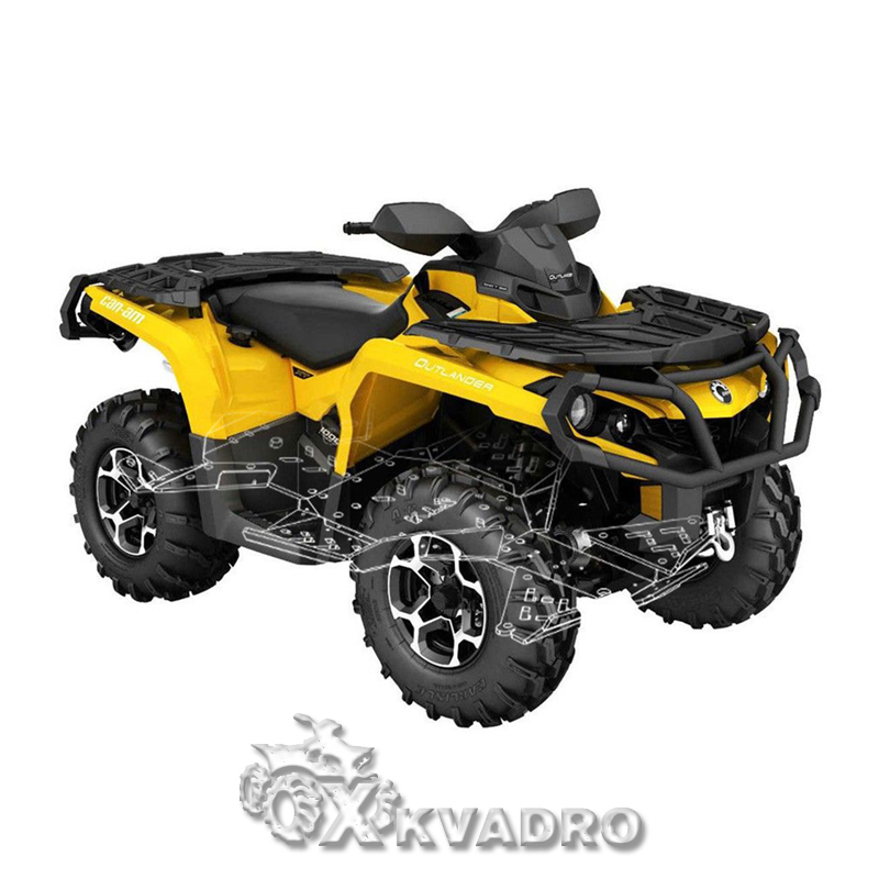 Can-am Outlander 570/ 650/ 850/1000 G2 ( до 2019 г.в.) - защита днища для квадроцикла