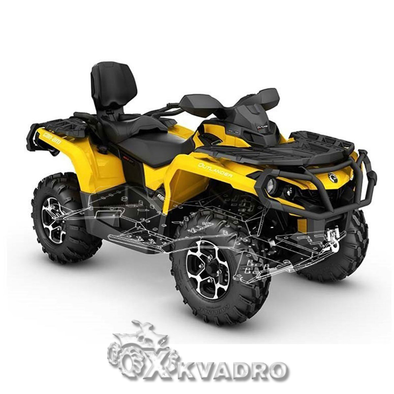 Can-am Outlander 650/ 850/1000 G2 MAX/ XMR (до 2019 г.в.) — защита днища для квадроцикла