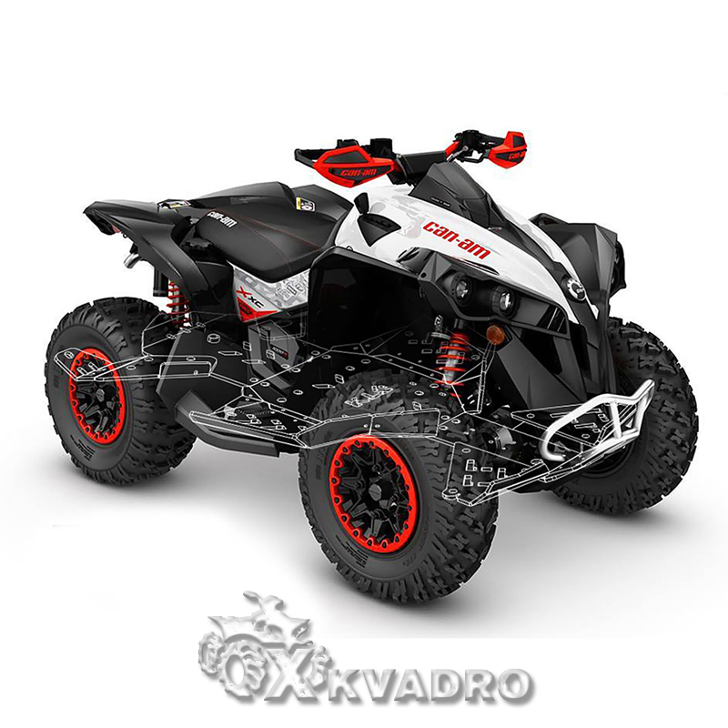 Can-am Renegade G2 (до 2019 г.в.) - защита днища для квадроцикла