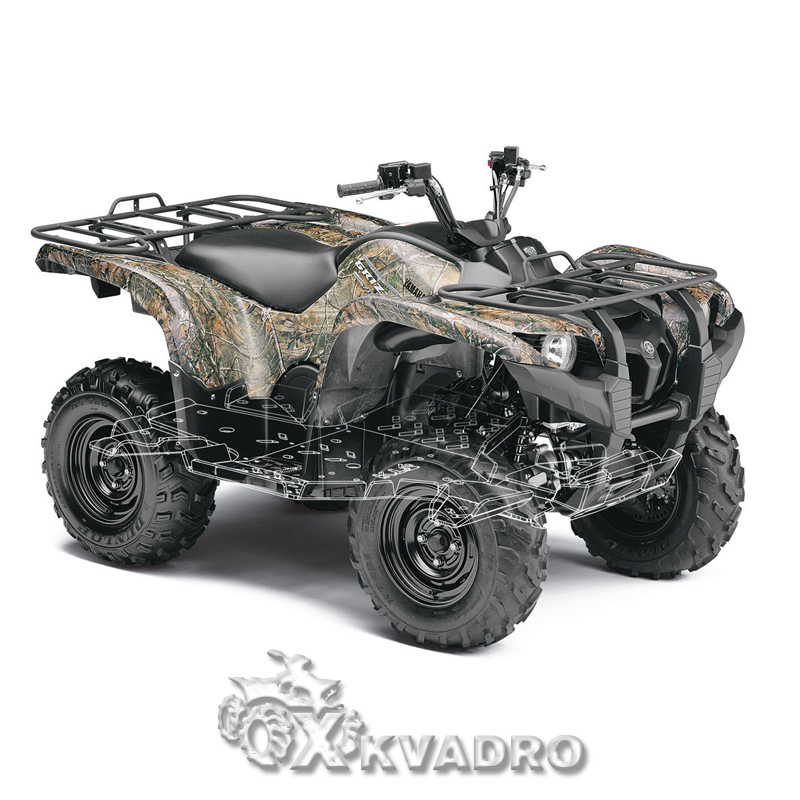 Yamaha Grizzly 700 - защита днища для квадроцикла
