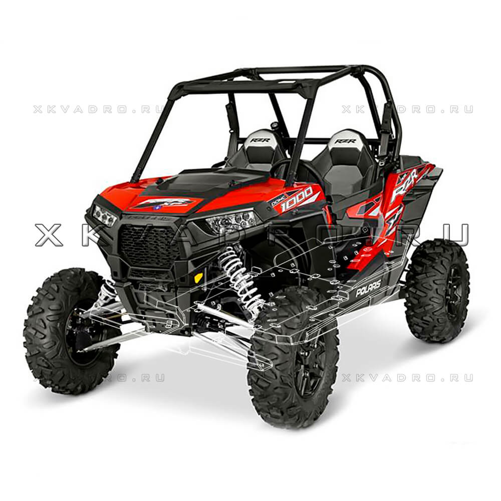 Polaris RZR 1000 / RZR 1000 Turbo  — защита днища для квадроцикла